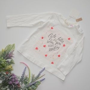 ⏰LAST CHANCE⏰ ZARA BabyGirl Tee with Quote